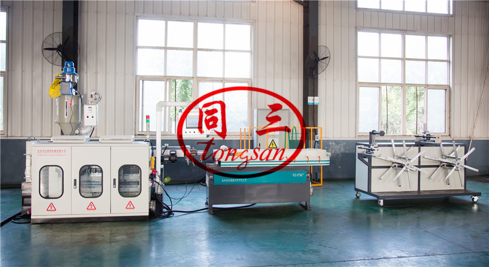 plastic single wall corrugated pipe machine