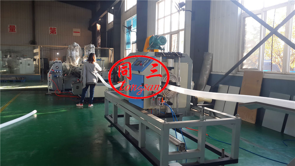 double wall corrugated pipe extruder line