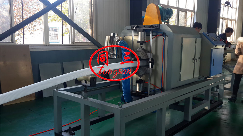 DWC drainage pipe cutting machine