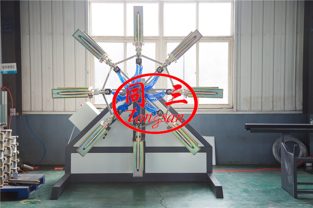 double wall corrugated pipe winder