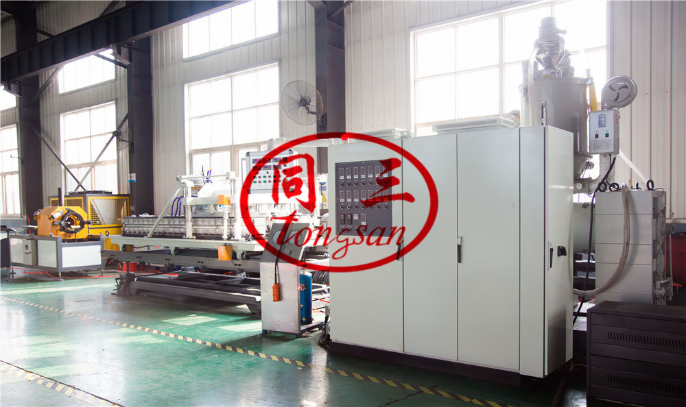 double wall corrugated pipe extruding line