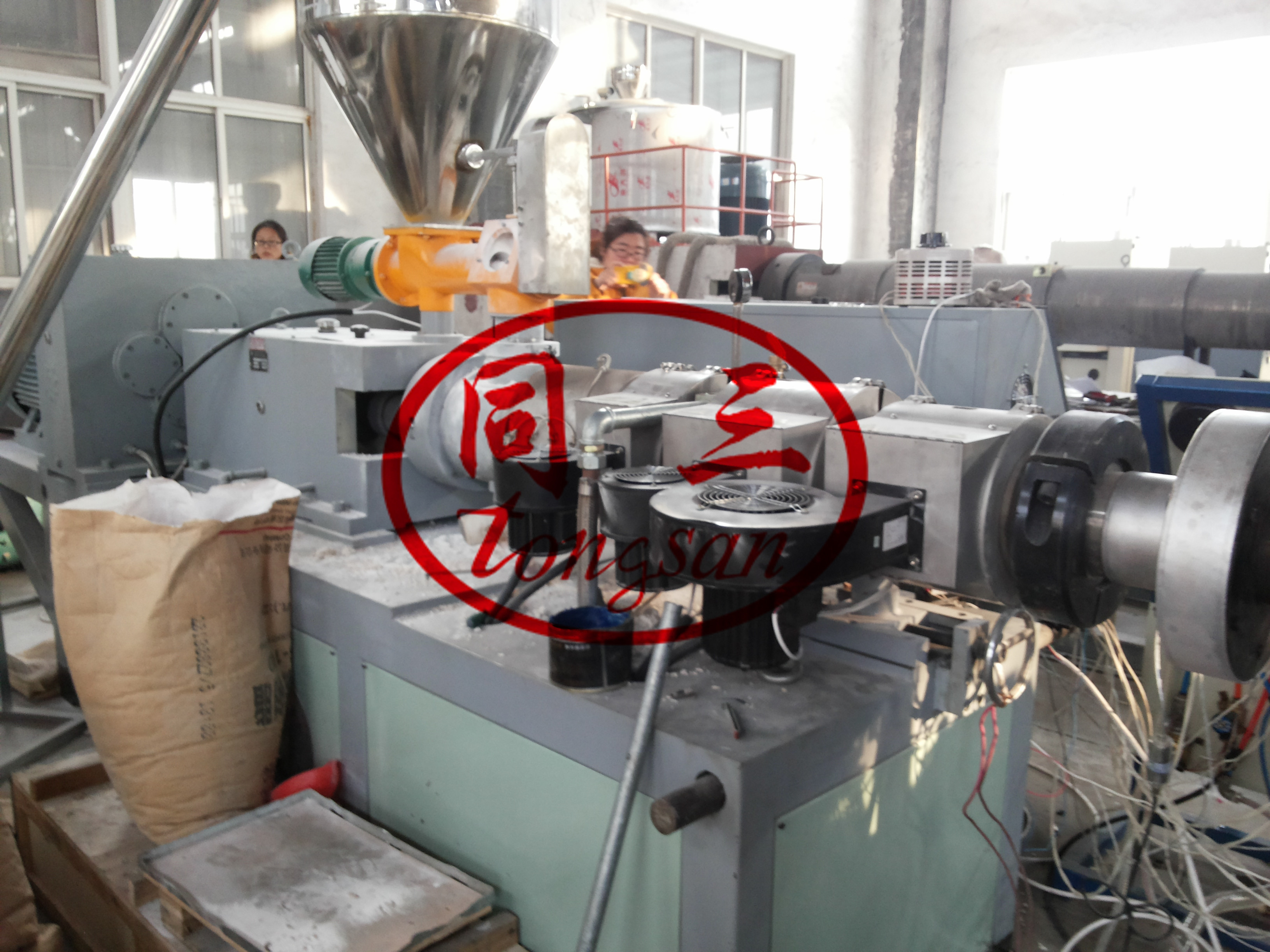 extruders for DWC pipe machine