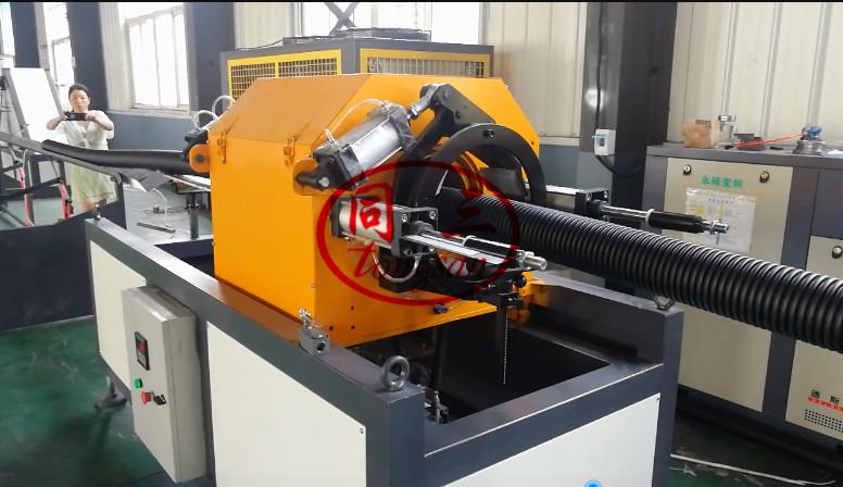 corrugated pipe cutting machine