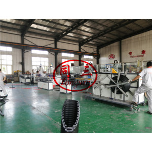 single wall corrugated pipe machine with coating flat layer/ multi layer corrugated pipe machine