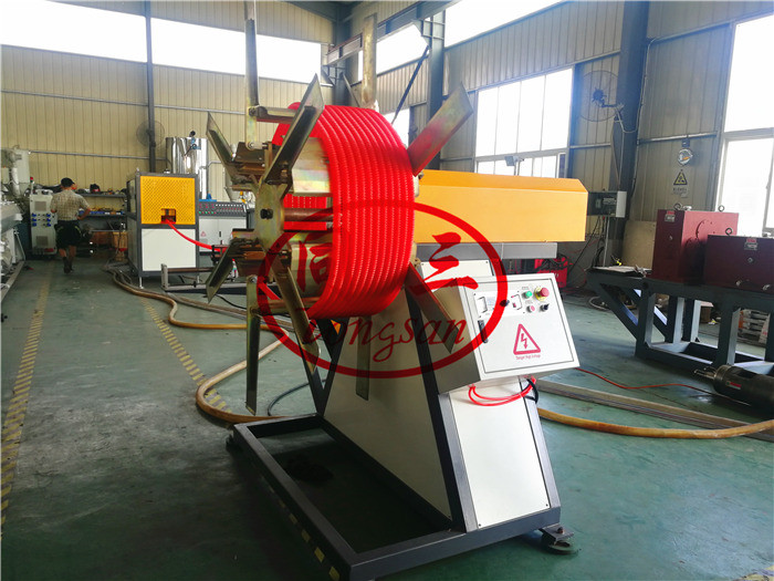 spiral corrugated pipe coiling machine