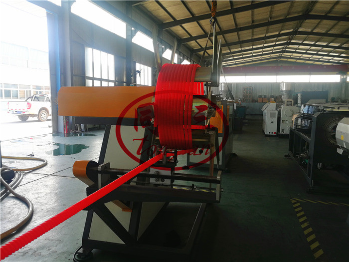 spiral corrugated pipe winding machine