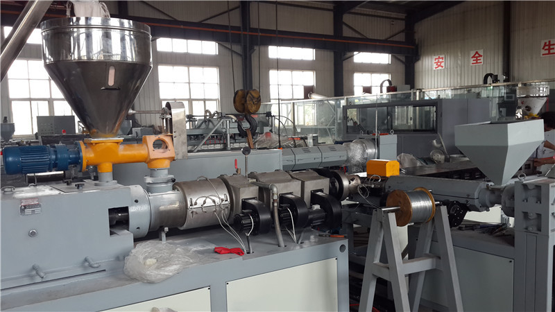 coonical double screw plastic extruder