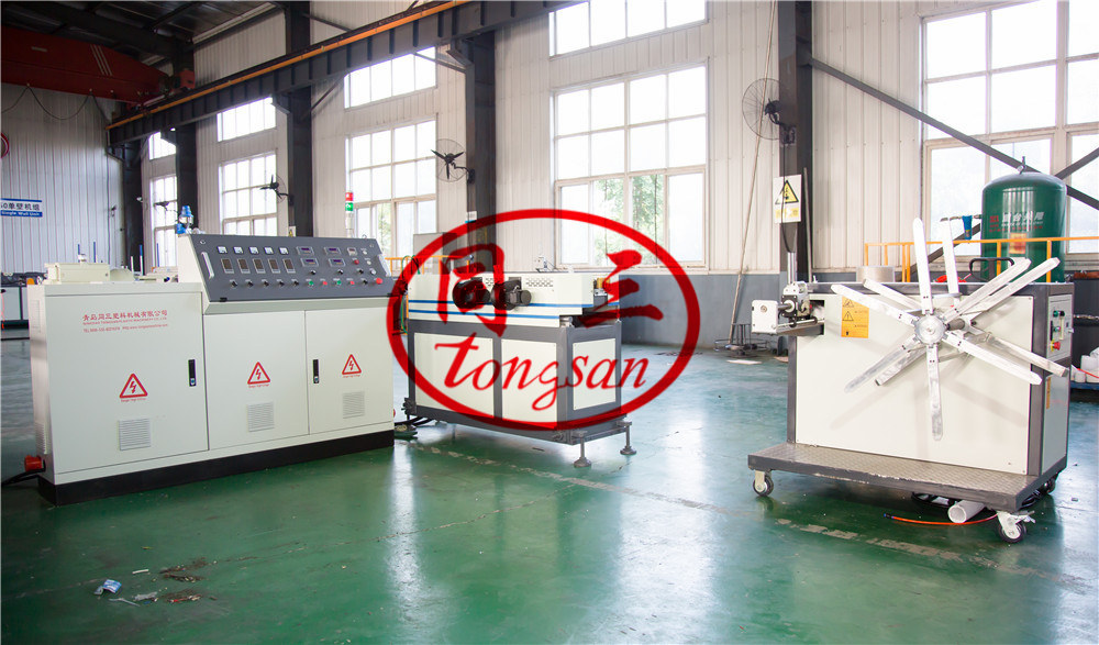 one wall corrugated pipe line