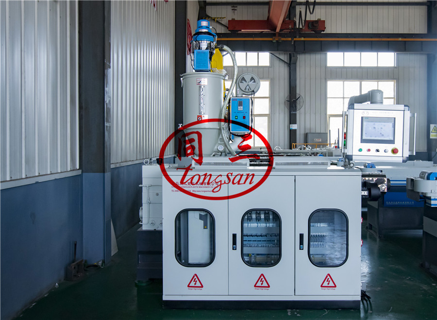 corrugated flexible pipe extruder machine