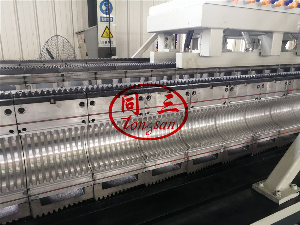 double wall corrugated pipe mould making