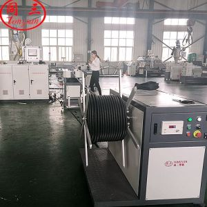 extrution line for hdpe corrugated electrical tube