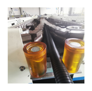 washing machine water drain hose making machine/ flexible corrugated drain pipe machine