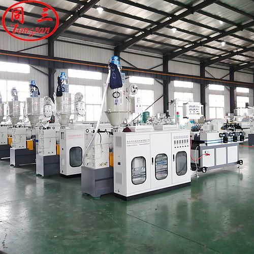 Qingdao Tongsan corrugated pipe machine plant