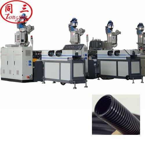 nylon corrugated pipe extruder machine
