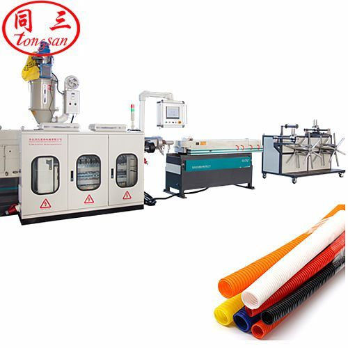 fast speed single wall corrugated pipe machine