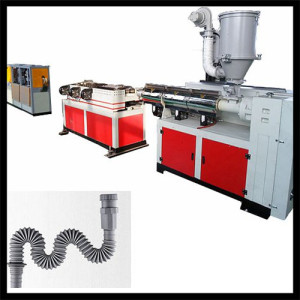 corrugated shrinking pipe machine/ magic pipe machine