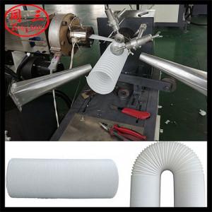 steel wire shrinking pipe machine manufacuture cost steel shrinkale corrugated pipe machine