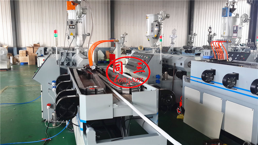 vacuum plastic shrink pipe machine