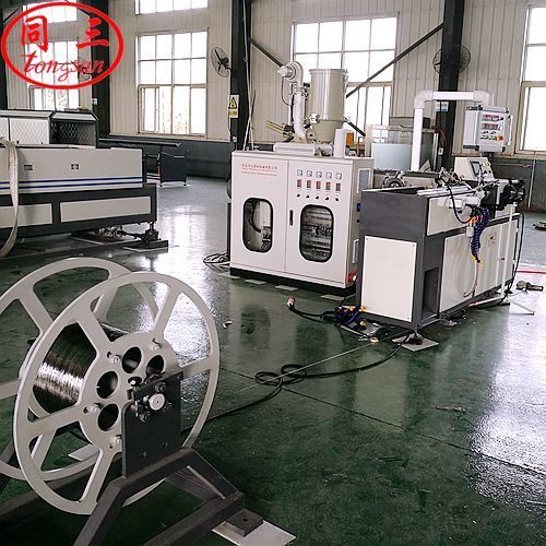 shrink wind corrugated pipe machine