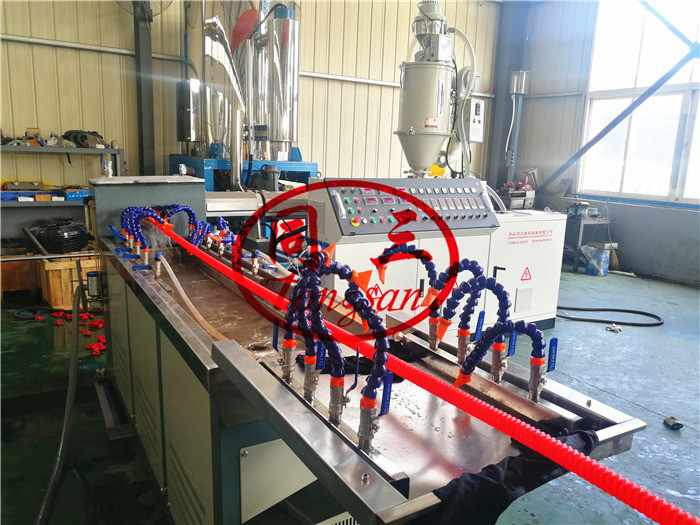 spiral corrugated pipe production line