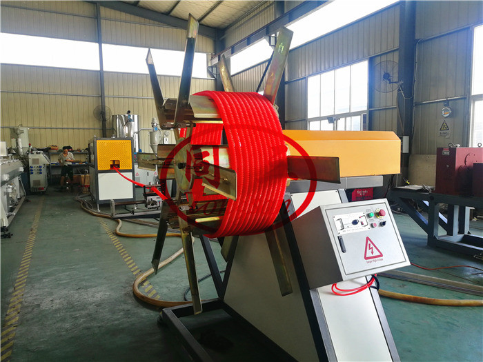 corrugated optic duct machine