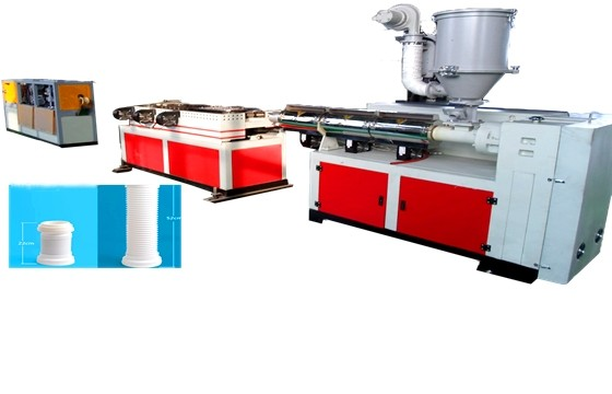 Shrinkable corrugated pipe machine
