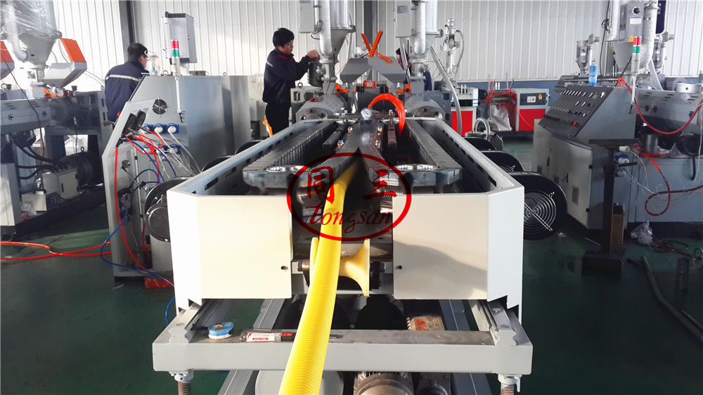 63 double wall corrugated pipe extruder