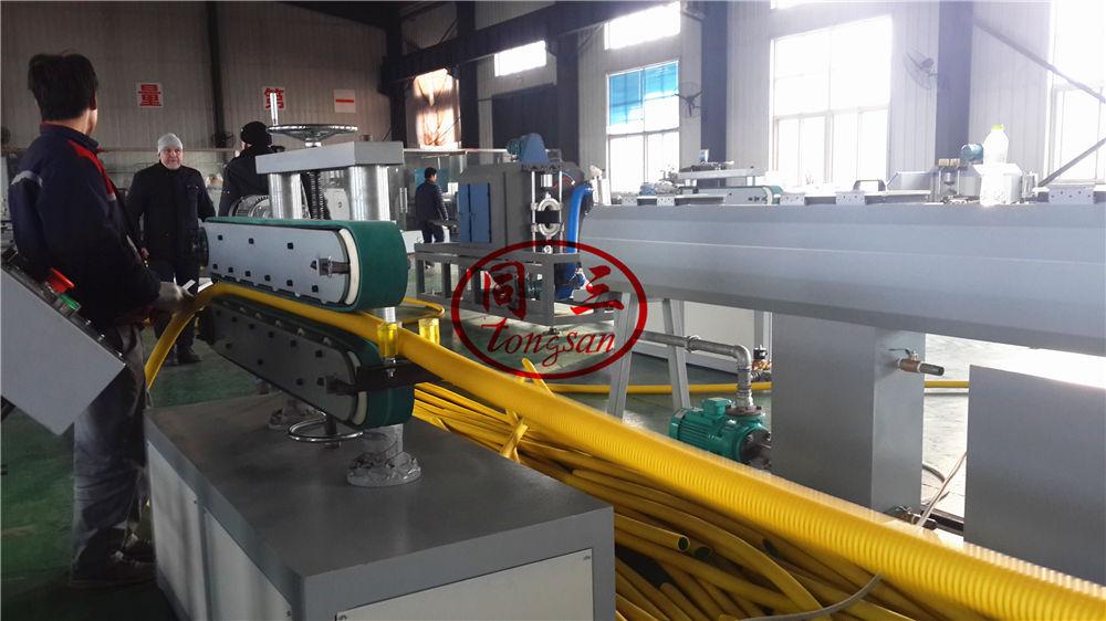 DWC pipe extruder machine