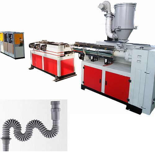 corrugated shrinkable washing basin magic pipe machine