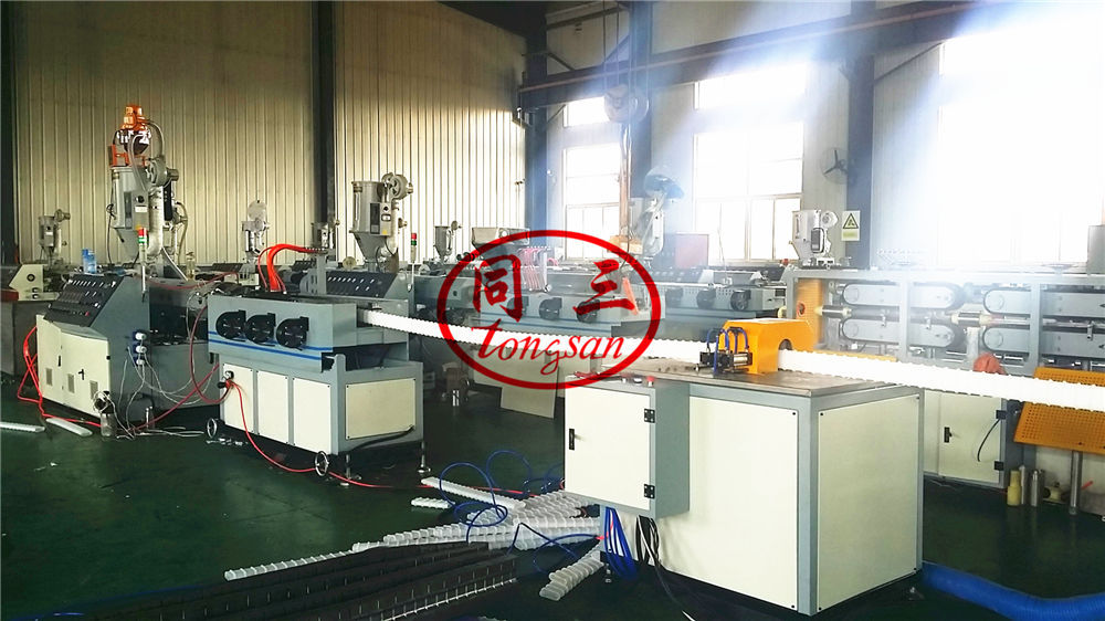 flat corrugated pipe making machine