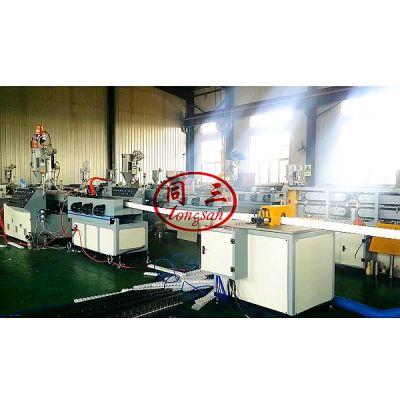 HDPE prestressed flat round corrugated pipe making machine