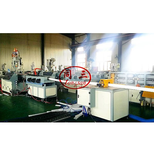 HDPE prestressed flat round corrugated pipe making machine