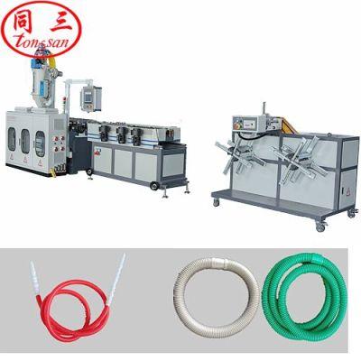 corrugated pipe machine to make hookah pipe/ shisha hose making machine