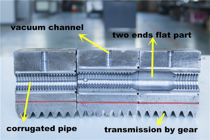 plastic pipe corrugator mould