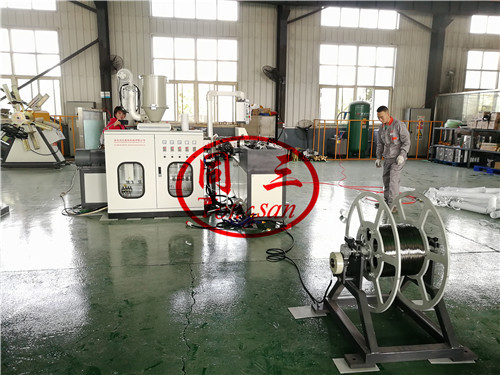 air conditioner exhaust hose machine