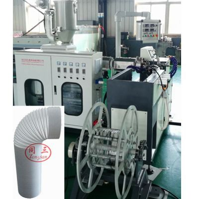 PP air conditioner exhaust hose extruder making machine / Venting Duct Hose Extension Machine