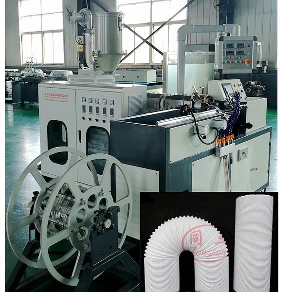 Telescopic Extension Flexible Air Conditioner Exhaust Vent Hose making machine line