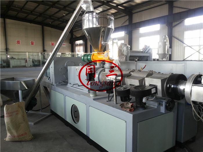corrugated pipe twin extruder machine
