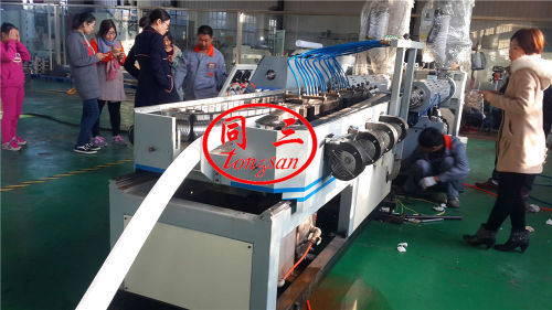 dwc double wall corrugated pipe plant manufacturer / double wall corrugated pe pipe machine