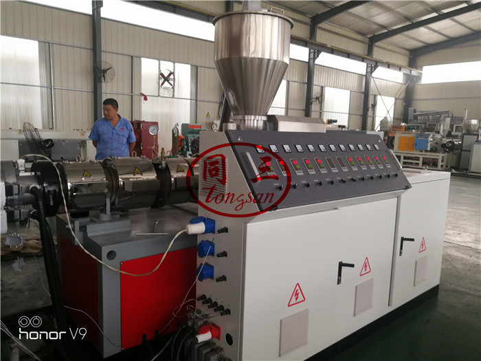 connical double screw extruder
