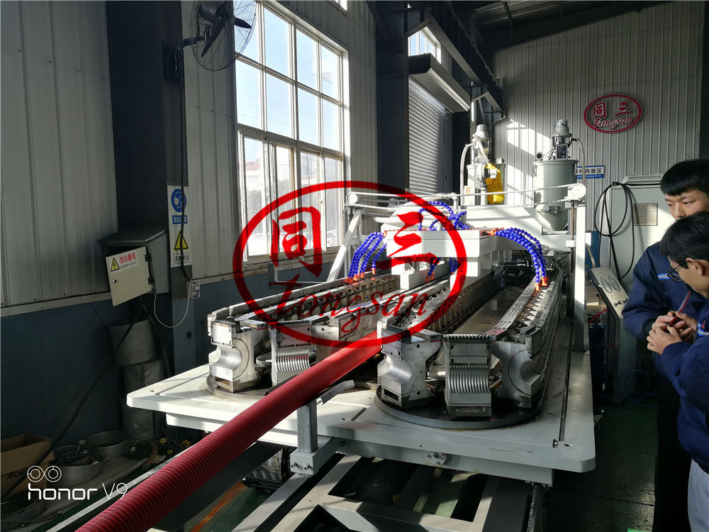 DWC pipe forming machine