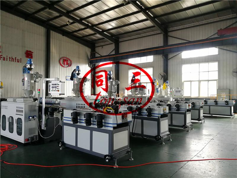 plastic pipe corrugator extruder machine