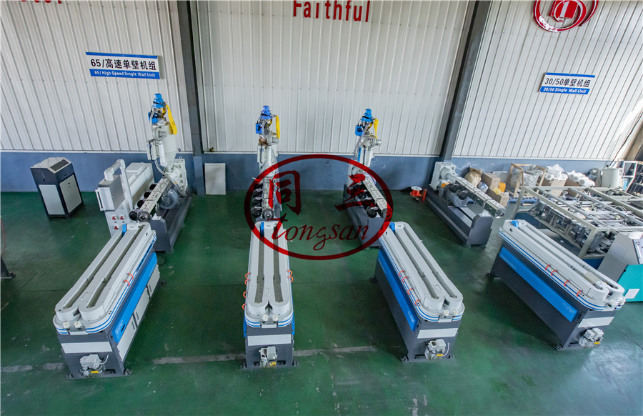 24m/min corrugated pipe machine