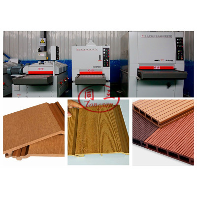 Wood Plastic WPC Surface Treatment Machine WPC Decking Embossing Brushing Sanding Machine