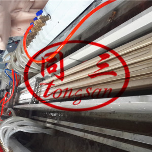 wood plastic wpc pipe extrusion machine/ wpc broomstick pipe making machine/wood plastic wpc machine