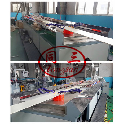 300mm 600mm pvc wpc wall panel making extrusion machine / pvc wpc profile production line