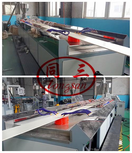300mm 600mm pvc wpc wall panel making extrusion machine / pvc wpc profile production line