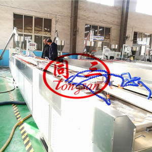 Wood Plastic WPC Profile Extrusion Line Using Recycled PP/PE PVC Plastic and Wood Fiber