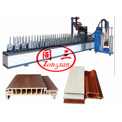 pvc and wood wpc door frame making extrusion machine/ pvc wpc profile making machine