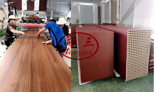 WPC Door Panel Lamination Laminating Machine with colourful film with PUR hot glue